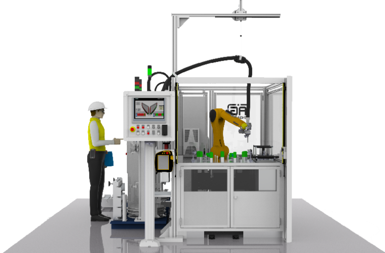 Priemyselna automatizacia AG-Engineer roboticke pracovisko