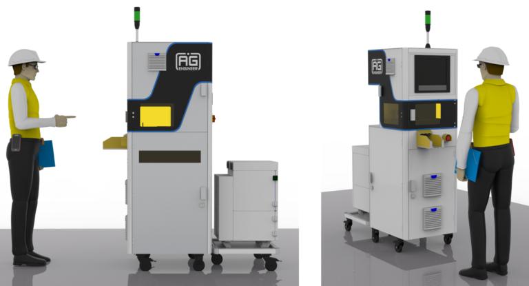Laserovacia stanica , vyrobne stitky, laser engraver Automatizacia, priemyselne riesenia, roboticke pracoviska