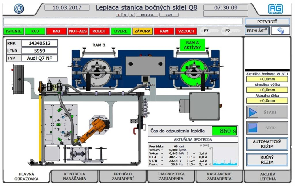 Robotic application of adhesive visualization