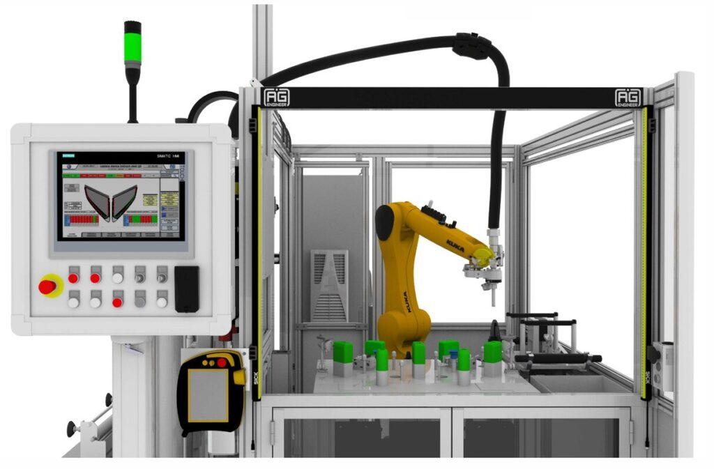 Robotic application of adhesive main view