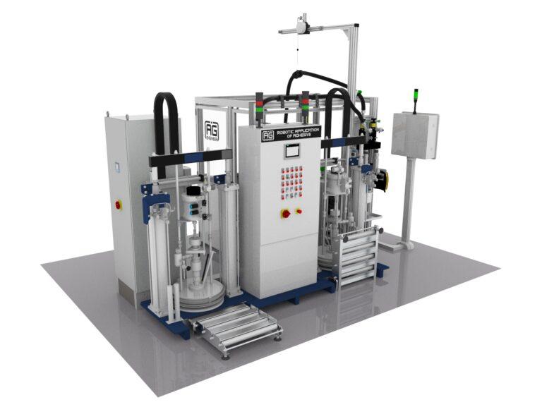 Robotic application of adhesive