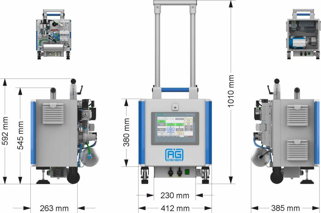 Leak test portable equipment